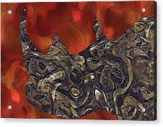 Rhino Abstract Acrylic Print by Jack Zulli