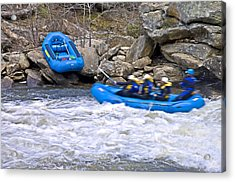 River Rafting Acrylic Print by Susan Leggett