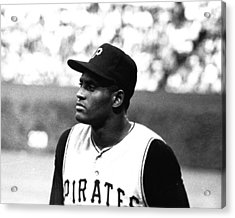 Roberto Clemente Acrylic Print by Retro Images Archive