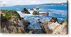 Rock Formations On The Coast, Point Acrylic Print by Panoramic Images