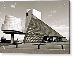 Rock Hall Of Fame Acrylic Print by Frozen in Time Fine Art Photography
