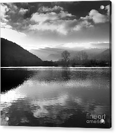 Romantic Lake Acrylic Print by Bernard Jaubert