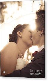 Romantic Wedding Kiss Acrylic Print by Jorgo Photography - Wall Art Gallery