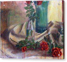 Roses Of Laughter Acrylic Print by Josh Hertzenberg