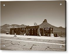 Route 66 - Cool Springs Camp Acrylic Print by Frank Romeo