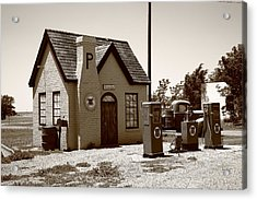 Route 66 - Phillips 66 Gas Station Acrylic Print by Frank Romeo