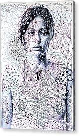 Sacred Geometry Mixed Media Art By Maria Lankina Acrylic Print by Maria  Lankina