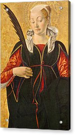 Saint Lucy Acrylic Print by Francesco del Cossa