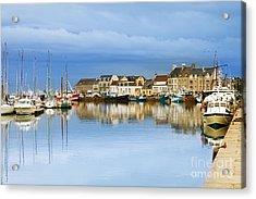 Saint-vaast-la-hougue Normandy France Acrylic Print by Colin and Linda McKie