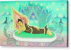 Sakayamuni Buddha 02 Acrylic Print by Kaewkao Titayakorn