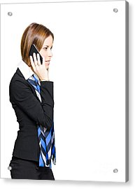 Sales And Marketing Business Woman Acrylic Print by Jorgo Photography - Wall Art Gallery