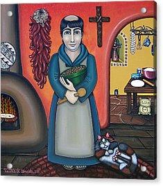 San Pascuals Kitchen Acrylic Print by Victoria De Almeida