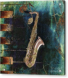 Saxophone Collection Acrylic Print by Marvin Blaine