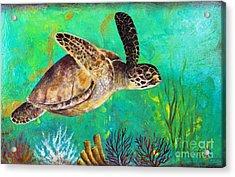 Sea Turtle  Acrylic Print by Gabriela Valencia