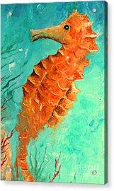Seahorse  Legend  Acrylic Print by Gabriela Valencia