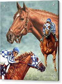 Secretariat - The Legend Acrylic Print by Thomas Allen Pauly