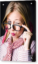 Secretive Nerd Misleading With A Wink Of Deceit  Acrylic Print by Jorgo Photography - Wall Art Gallery