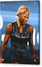 Serena Williams Acrylic Print by Paul Meijering