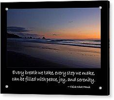 Serenity Acrylic Print by Don Schwartz
