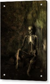 Skeleton Acrylic Print by Amanda And Christopher Elwell