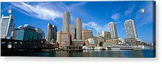 Skyscrapers At The Waterfront, Boston Acrylic Print by Panoramic Images