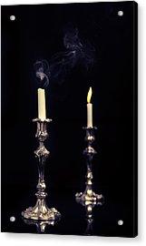 Smoking Candle Acrylic Print by Amanda And Christopher Elwell
