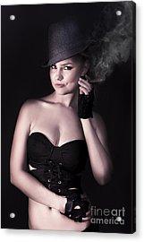 Smoking Hot Fashion Acrylic Print by Jorgo Photography - Wall Art Gallery