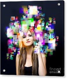 Social Media And Networking Acrylic Print by Jorgo Photography - Wall Art Gallery