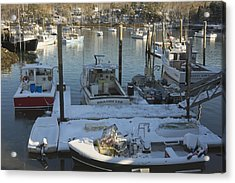 South Bristol And Fishing Boats On The Coast Of Maine Acrylic Print by Keith Webber Jr
