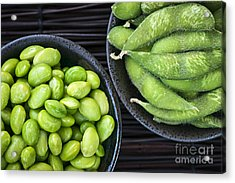 Soy Beans In Bowls Acrylic Print by Elena Elisseeva