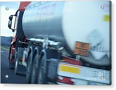 Speeding Truck On Highway Acrylic Print by Sami Sarkis