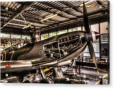 Spitfire Engine Acrylic Print by Ian Hufton