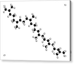 Squalene Natural Hydrocarbon Molecule Acrylic Print by Molekuul