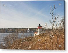 Squirrel Point Lighthouse Kennebec River Maine Acrylic Print by Keith Webber Jr