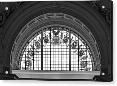 Stained Glass - Library Of Congress Acrylic Print by Mountain Dreams