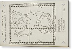 Star Constellations And Heavenly Bodies Acrylic Print by British Library