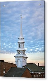 Steeple And Rooftops Acrylic Print by Eric Gendron