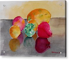 Still Life Fruits Acrylic Print by Geeta Biswas