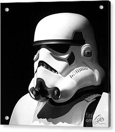Stormtrooper Acrylic Print by Chris Thomas