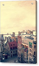 Streets Of Old Quebec City Acrylic Print by Edward Fielding