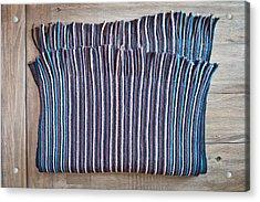 Striped Scarf Acrylic Print by Tom Gowanlock