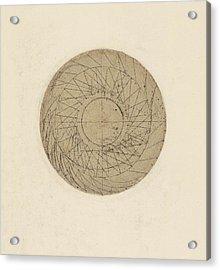 Study Of Water Wheel From Atlantic Codex Acrylic Print by Leonardo Da Vinci
