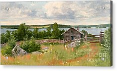 Summer Landscape Acrylic Print by Celestial Images