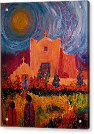 Sunday Morning In New Mexico Acrylic Print by Carolene Of Taos