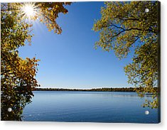Sunny Autumn Day Acrylic Print by AMB Fine Art Photography