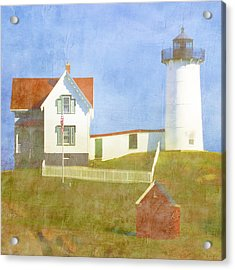 Sunny Day At Nubble Lighthouse Acrylic Print by Carol Leigh