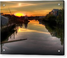 Sunrise On The Petaluma River Acrylic Print by Bill Gallagher