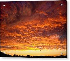 Sunset Ablaze Acrylic Print by James Hammen