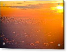 Sunset In The Sky Acrylic Print by Raimond Klavins