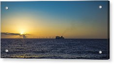 Sunset Over The Irish Sea Acrylic Print by Paul Madden